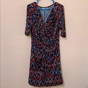 New 14/16 Avenue Multicolored V-Neck Dress